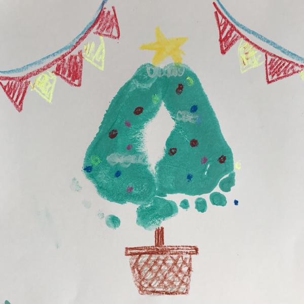 足型クリスマスツリー