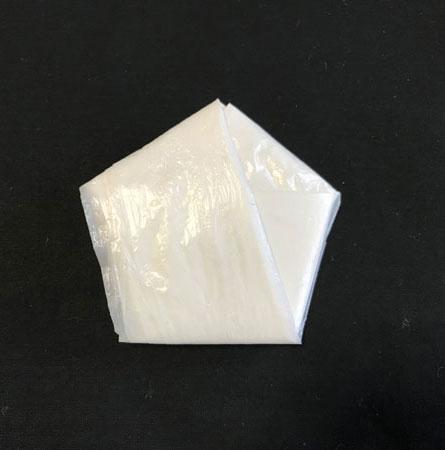 レジ袋五角形折り
