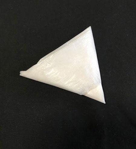 レジ袋三角折り