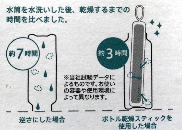 ボトル乾燥スティック