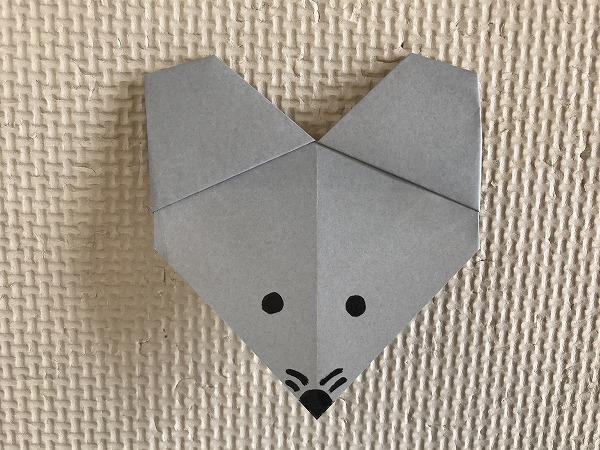 折り紙 簡単 ねずみ