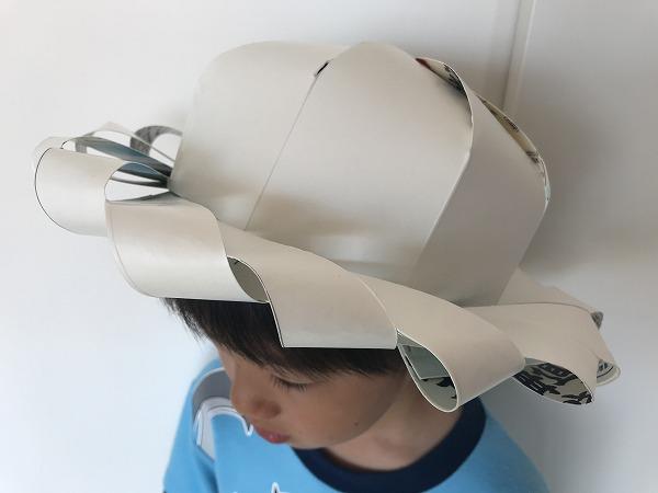 牛乳パック麦わら帽子
